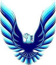 Trans Am Eagle Logo Trans Am Eagle Color Hood Decal Blue Small 27 X Trans Am Firebird Trans Am Pontiac Firebird Trans Am