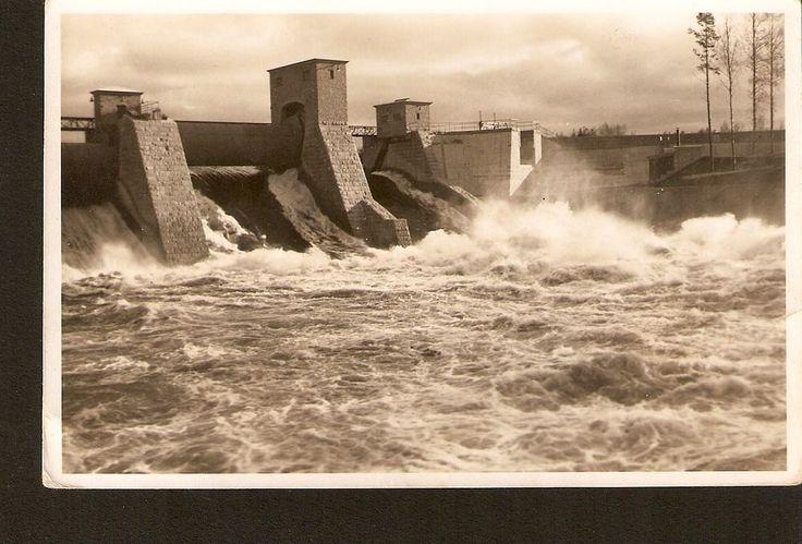 Finland Helsinki Foto Roos Helsingfors Old Real Photo Postcard Dam Dike Scandina