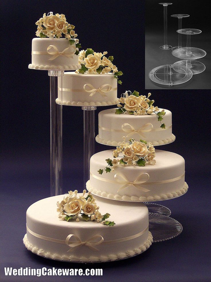 wedding cake pedestal details about 5 tier cascading wedding cake stand stands 8703