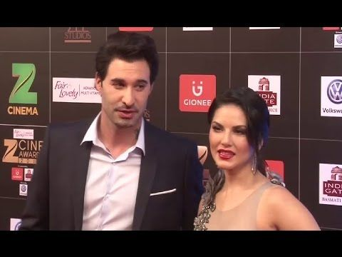 Sunny Leone with husband Daniel Weber at Zee Cine Awards 2017.