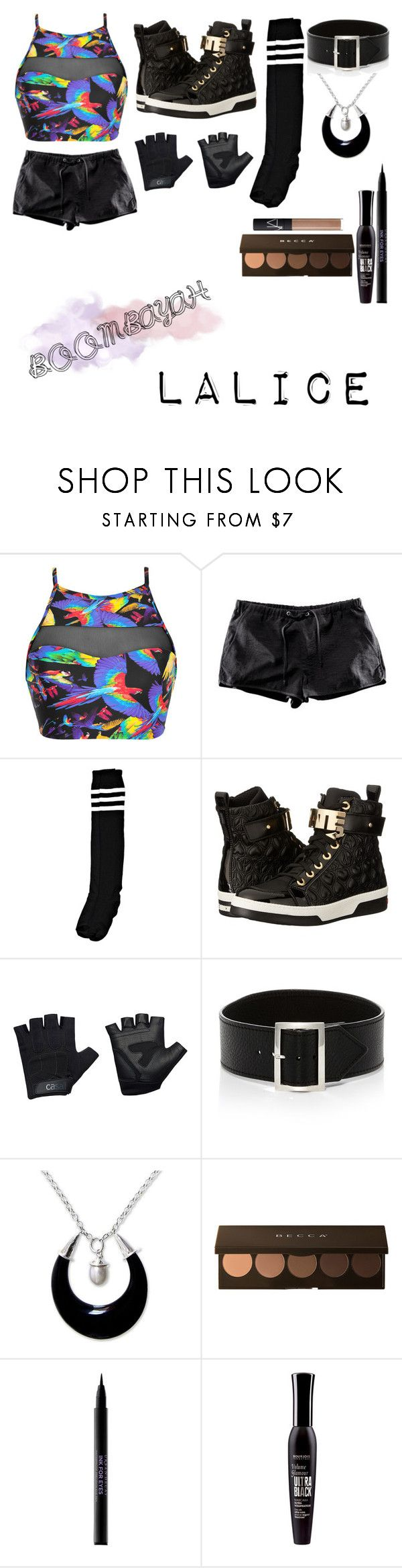 """""""Korean swag!"""" by foreignycadw ❤ liked on Polyvore featuring Blue Man, Boohoo, Love Moschino, Casall, Sophie Buhai, NOVICA, Becca, Urban Decay, Bourjois and NARS Cosmetics"""