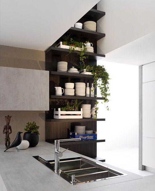Cocina moderna / laminada / oculta / con puertas retráctiles - TIVALI by Dante Bonuccelli - Dada