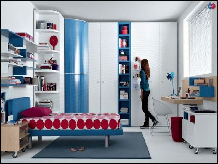 Red Blue Beech White Furniture For Good Room Ideas for Teenage