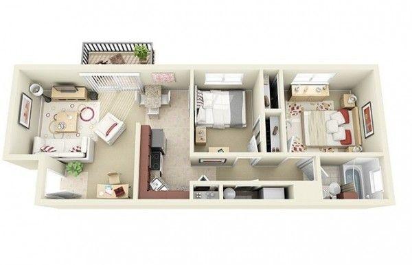 Image result for apartamentos pequenos para 2 estudiantes
