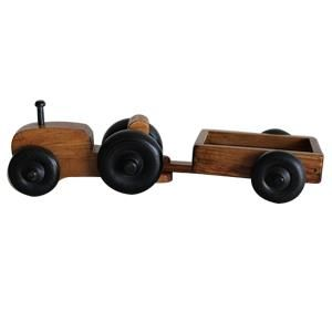American Made Small Wooden Toy Tractor Wagon Handmade wooden toys provide hours of adventures.