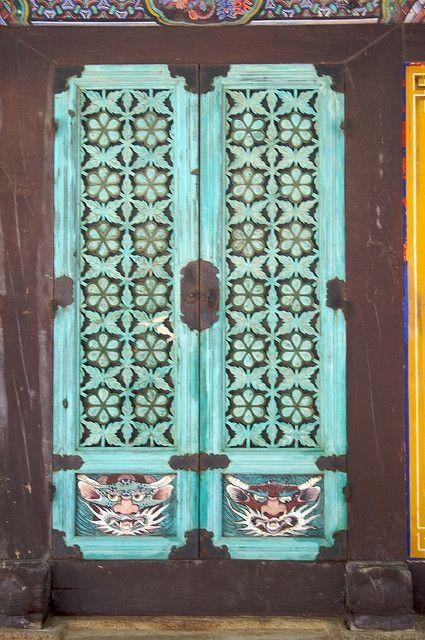 Temple doors, South Korea