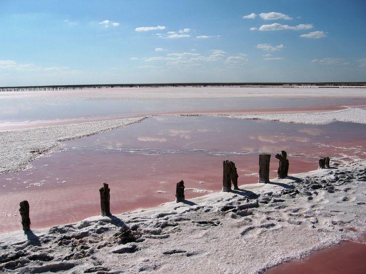 Геническое солевое озеро, полуостров Арабатская стрелка
