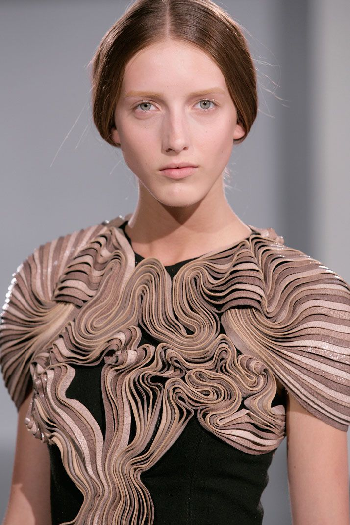 """""""For me fashion is an expression of art that is very closely related both to me and to my body. I see it as an expression of identity combined with desire, moods and a cultural setting""""  - Iris Van Herpen"""