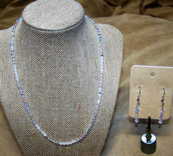 Swarovski Crystal Shades of Frost Sterling by CreateYourOwnDesign