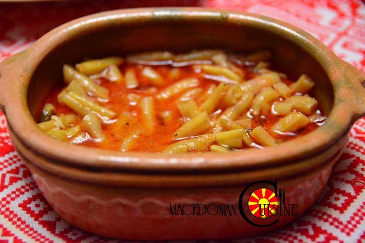 boranija, mandza, yellow beans, stew, macedonian food, манџа боранија