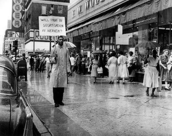 Unidentified picketer, Canal Street.