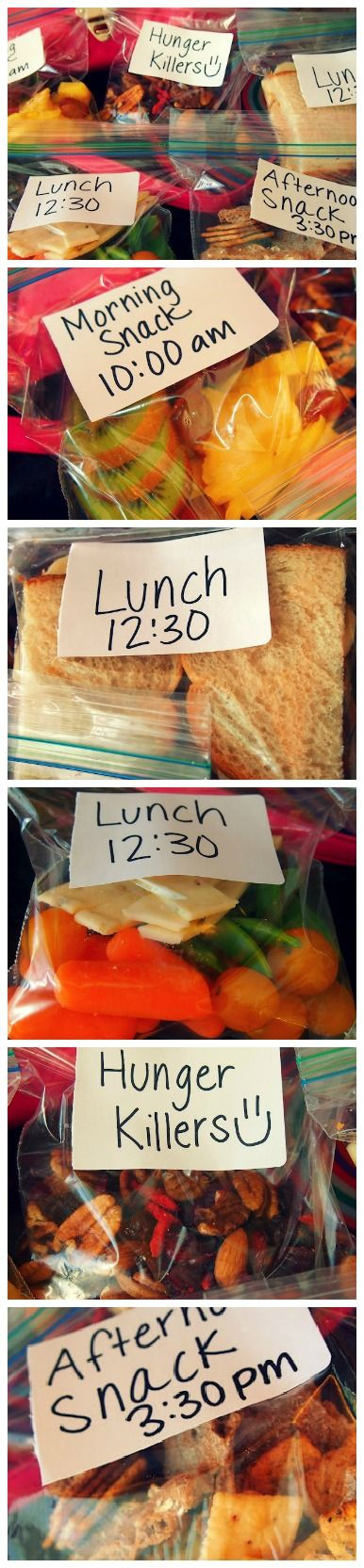 Great idea to label snacks. Food prep is a key step to