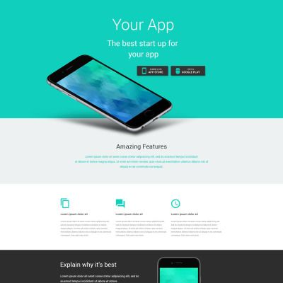 Software Parallax Landing Page Template