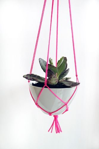 Macrame plant hanger: 3 Easy Holiday Gift DIYs... Under $15! refinery29 http://www.refinery29.com/3-easy-holiday-gift-diys-under-15slide38
