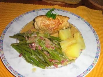 Puten-Rouladen klassisch gefüllt mit Speck-Böhnle