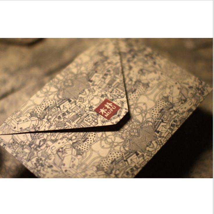 10 יח'\חבילה וינטג רטרו מעטפת נייר קראפט עבור משלוח חינם באיכות גבוהה בסגנון כרטיס ביקור 803
