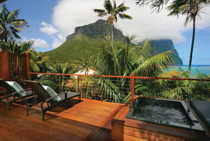One of the exclusive suites at Capella Lodge on Lord Howe Island, Australia – such an exclusive place to stay that you will likely want to use a tour operator. #luxury #travel #hotels