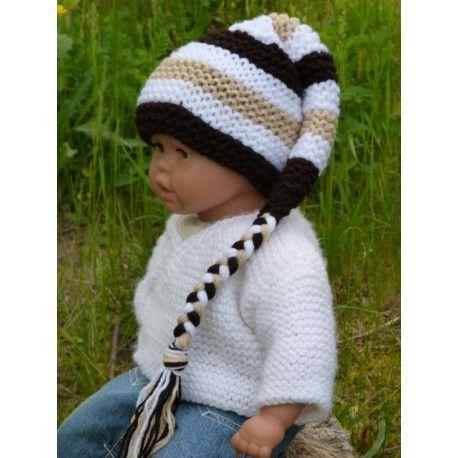 Très joli petit bonnet lutin pour bébé de 0 à 2 3 mois environ de 31cf3e3ea54