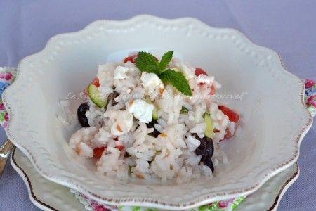 riso vegetariano,insalata di riso,primi freddi