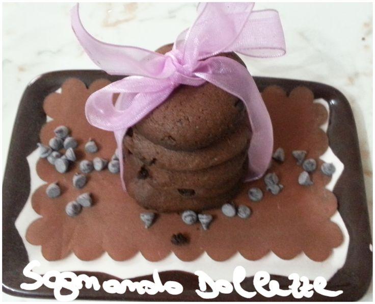 Sognando Dolcezze: Biscotti al cioccolato con gocce di cioccolato