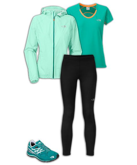 The North Face Women's Running Outfit: Stormproof Trail Runner
