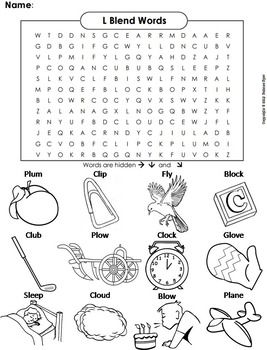 l blends worksheet bl cl fl gl pl and sl initial consonant blends word search word search. Black Bedroom Furniture Sets. Home Design Ideas