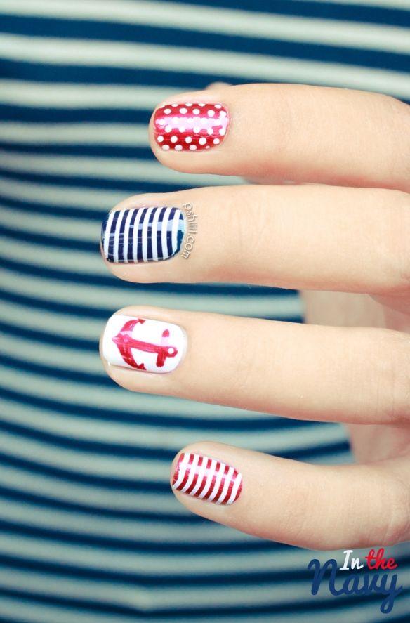 navy. #nails