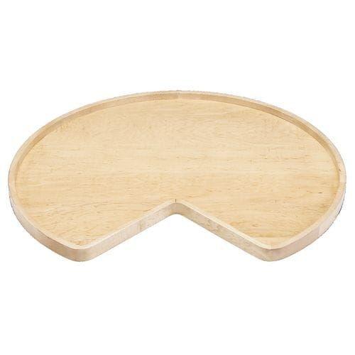 revashelf wood classic 28 diameter kidney shaped
