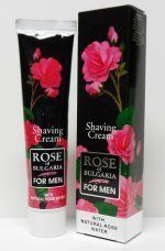 Rose of Bulgaria Shave Cream by Bio-Fresh. $4.00. Contains Natural Rose Water. Rose of Bulgaria Shave Cream. Imported from Bulgaria. Use only a small amount for a rich and asting lather with a shave brush.  The Damascene Rose of Bulgaria is an undeniably valuable - the Damascene Rose Essential Oil is the most expensive aromatic essential oil that exists, with aromatic, soothing and purifying only. It requires the distillation of thousands of rose petals to produce a singl...