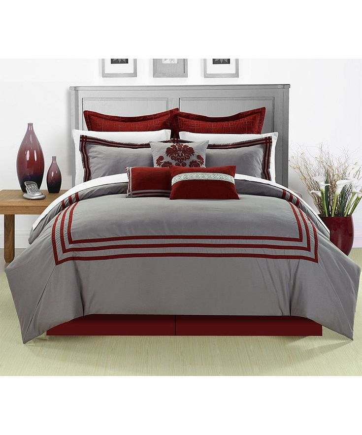 Red Cosmo Comforter Set   zulily