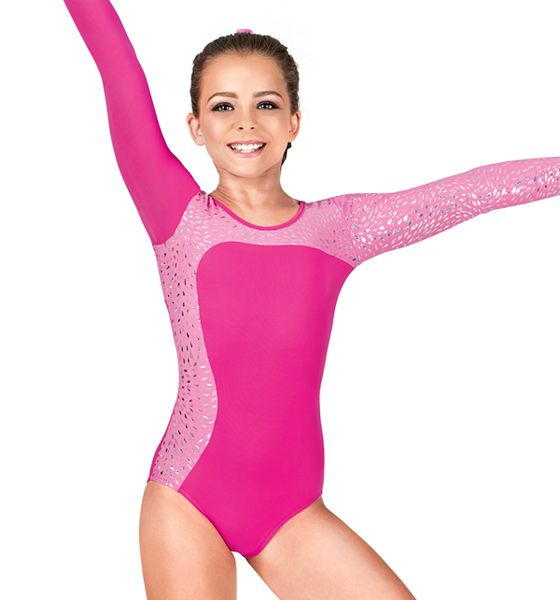 So Danca Girls Long Sleeve Gymnastics Leotard. My daughter has this one and we love it. Very sturdy material. Well made. Would definitely buy again.