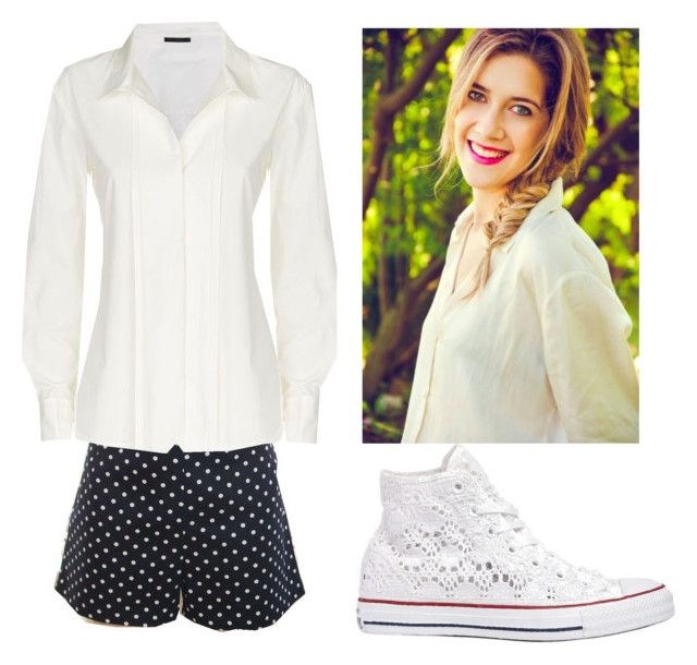 """""""Maria Clara Alonso"""" by la-connasse-de-france ❤ liked on Polyvore featuring Donna Karan, Converse, women's clothing, women, female, woman, misses and juniors"""