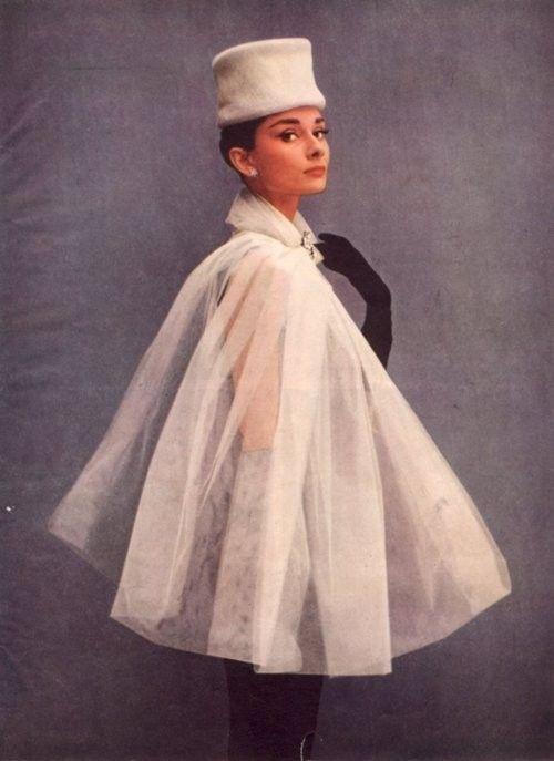 Audrey Hepburn - Cosmopolitan February 1957 - wearing Balenciaga