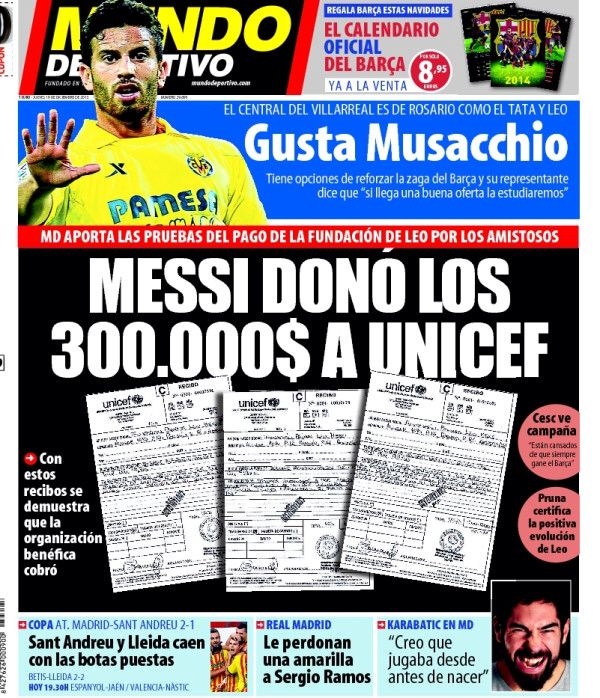 #Portada MD Jueves 19 de diciembre 2013 #FCBarcelona #Barça #Barcelona #igersFCB #Messi
