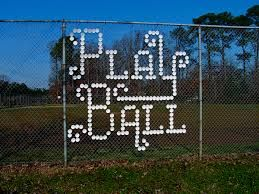 Image result for how to decorate a chain link fence