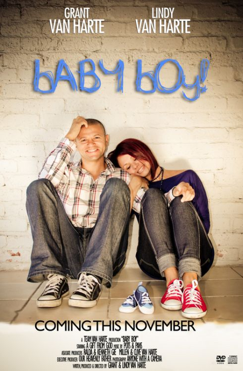 Movie poster baby announcement