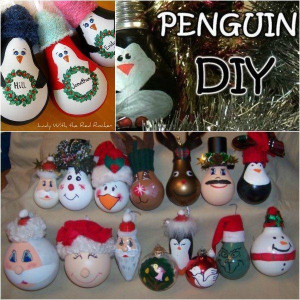 Fantastic diy light bulb christmas ornaments for Light bulb diy projects