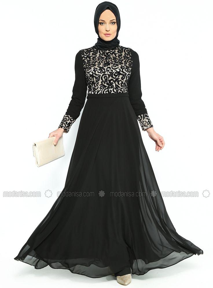 Flock Printed Ruched Chiffon Dress chest now - Black - MODAYSA