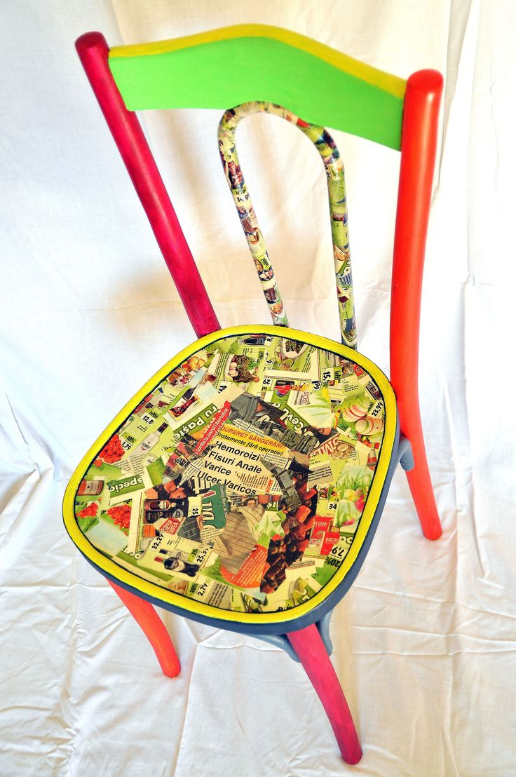 Old chair hand painted