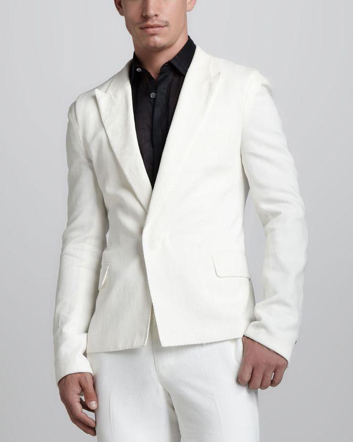 Resultado de imagen para blazer blanco hombre
