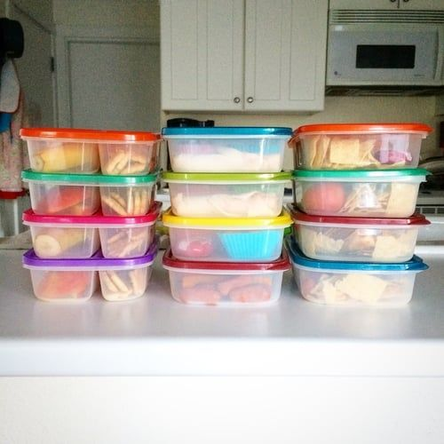 12 lunches packed and ready, enough for us for 3 days.