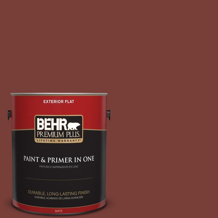 BEHR Premium Plus 1 gal. #PPU2-02 Red Pepper Flat Exterior Paint