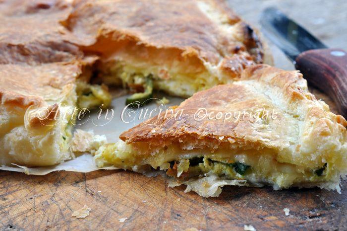 Torta salata zucchine e formaggio   Arte in Cucina