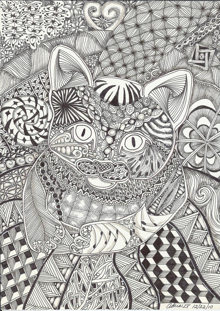 1236 best Art Cat Zentangle images