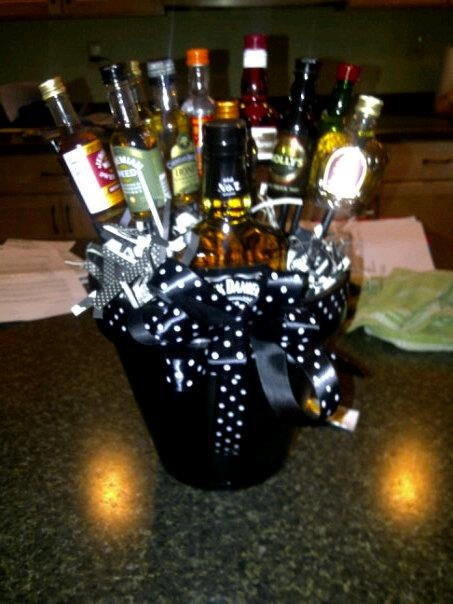 Men S Liquor Gift Basket 75 00 Via Etsy My Creations Pinterest Gifts Baskets For And