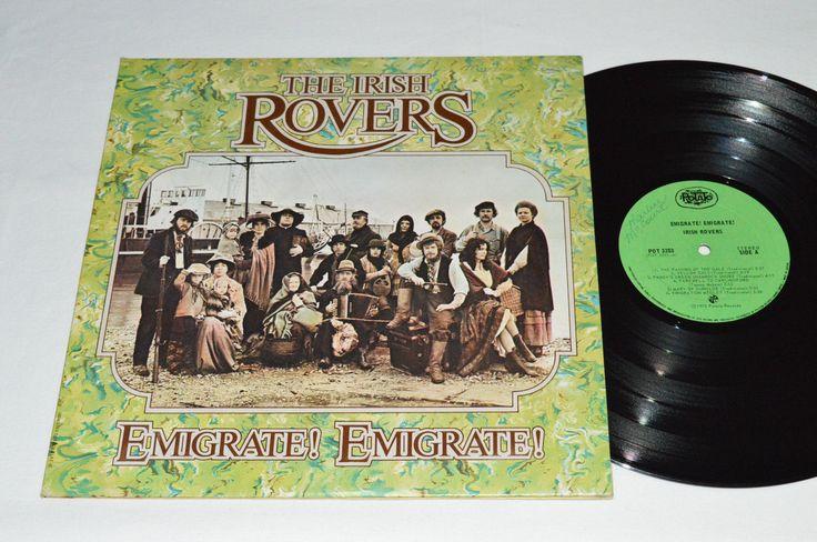 THE IRISH ROVERS Emigrate! Emigrate! LP 1973 Potato Records Canada POT-3203 VG |