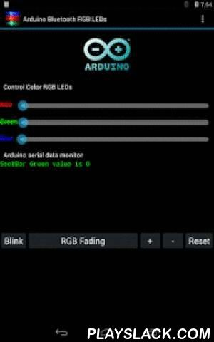 Arduino Bluetooth RGB LEDs  Android App - playslack.com , This app control RGB LEDs on the Arduino board via Bluetooth connection.Bluetooth on Android device needs to be enable.The Application Features- Control Color for RGB LEDs. ( with Bluetooth connection )- Blink Function and can adjust timing to blink.- Fading Function and can adjust timing to fading.- When not bluetooth connect yet – User Interface Disable.- When Bluetooth connected – User Interface enable.- Free Version with…
