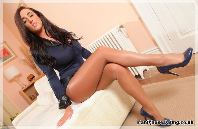 Shiny tanned pantyhose | Flickr - Photo Sharing ...