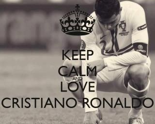 Keep calm and love Cristiano Ronaldo