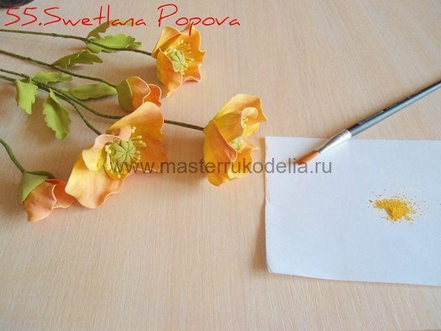 Цветы из фоамирана, мастер класс